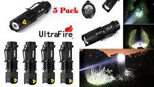 5 X Ultrafire Zoomable Cree 6000k 2000Lumen Mini LED Flashlight Torch Light Lamp