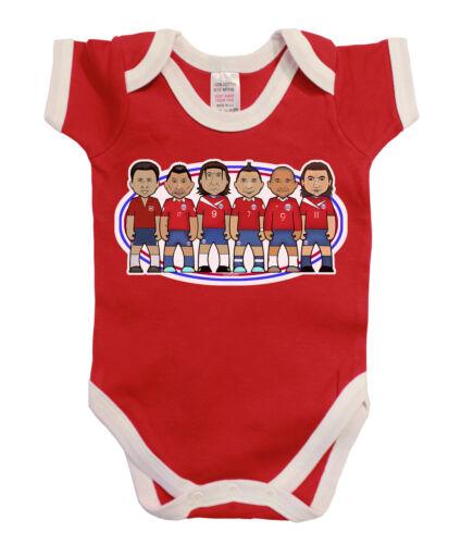VIPwees Babygrow Chile Football Legends Boys /& Girls Baby Bodysuit