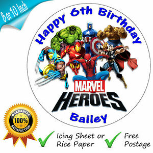 Personalised Superhero Cake Toppers