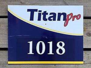 Image is loading TITAN-PRO-1018-Seed-Dealer-Farm-Field-Sign-