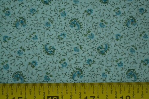 """Blue Calico on Soft Poly-Cotton By-the-Half-Yard Blouse//Dress C2168 44/"""""""