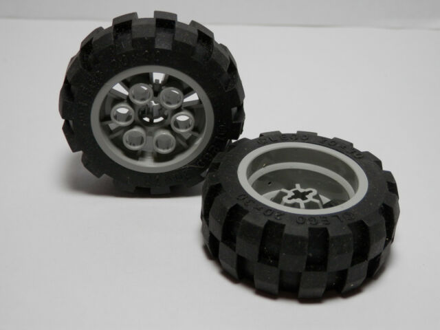 LEGOS Set of 2 NEW Light Gray 20 X 30 BALLOON Wheels and Black Balloon Tires