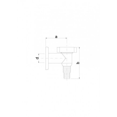 Geruchsverschluss Aufputz Siphon Chrom Waschmaschinenablauf Gerätesiphon Neu