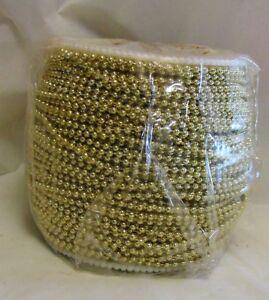 30 Feet 2.4mm Ball #3 Ball Chain Roll Champagne Gold Color Bulk Spool