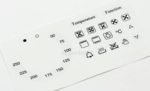 20pc 50-250 Temperature Symbols Function Degree Oven Adhesive Dial Sticker Label