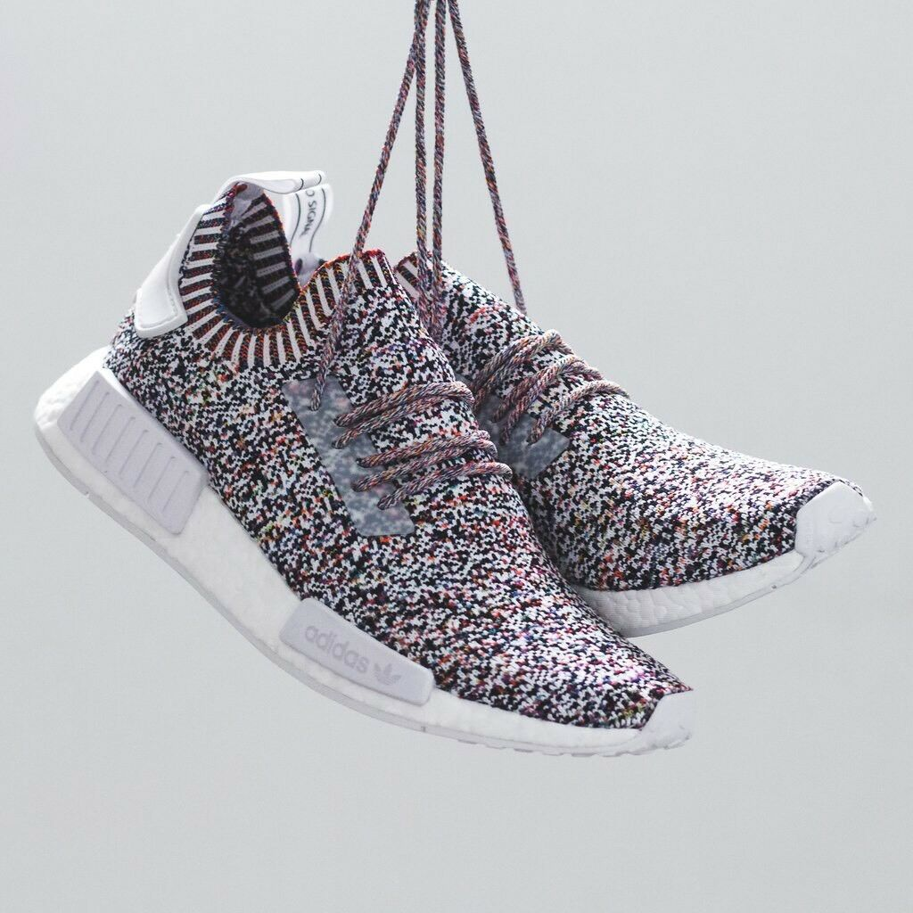 Adidas NMD R1 PK COLOR STATIC Multi-Color 9 Primeknit Boost Yeezy Ultra BW1126