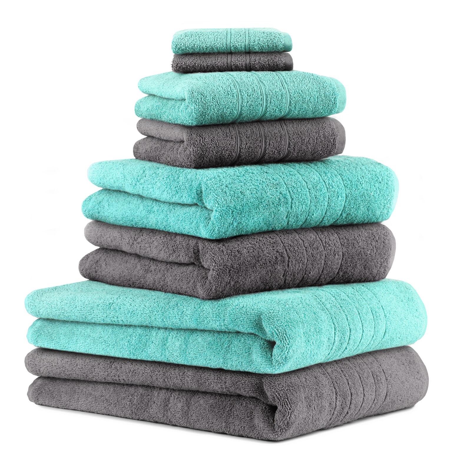 Betz 8tlg Handtuch Set DELUXE Badetücher Duschtücher Handtücher Seiftücher     | Sorgfältig ausgewählte Materialien