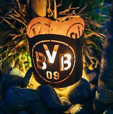 Edelrost Windlicht Borussia Dortmund Fanartikel BVB Kerzenhalter Laterne Deko
