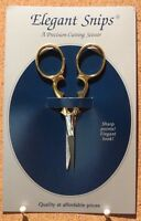 Elegant Snips Compact Scissors With Case Sewing / Needlepoint / Crossstitch