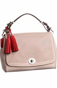 Image is loading COACH-LEGACY-PERFORATED-LEATHER-ROMY-CONVERTIBLE-TOP-HANDLE - 0b596400b1823
