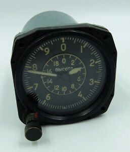 VD-20 Vintage USSR Russian Military Aircraft Altimeter #430538