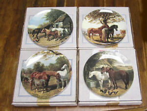 Royal-Doulton-Horses-Collection-of-4-plates-John-F-Herring