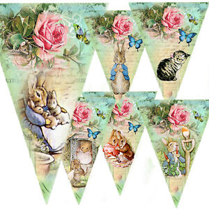 Peter-rabbit-Bunting-Party-Decoration-Garland-birthday-baby-shower-christening