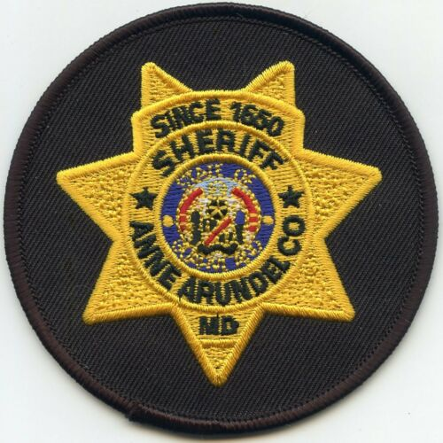 ANNE ARUNDEL COUNTY MARYLAND MD round SHERIFF POLICE PATCH