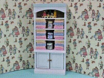Mobile Bagno Con Asciugamani Fisso E Accessori, Casa Delle Bambole Miniature-mostra Il Titolo Originale