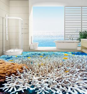 3D blancoo Coral peces 7 Piso impresión de parojo de papel pintado mural 5D AJ Wallpaper Reino Unido Limón