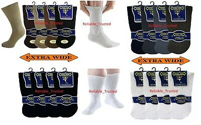 Bene Da Uomo Non Elastico Comfort Fit Extra Wide Diabetic Socks Piedi Gonfi Uk 6-11- Ritardare La Senilità