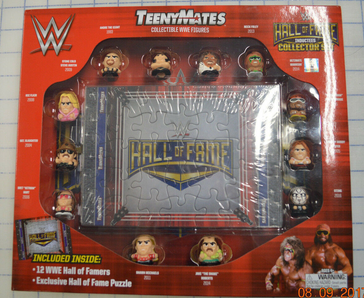 WWE TEENYMATES HALL OF FAME COLLECTOR'S SET WWF Wrestling Action Figures 2017
