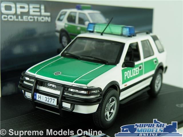 OPEL FRONTERA MODEL CAR POLIZEI POLICE 1 43 SCALE IXO COLLECTION VAUXHALL K8