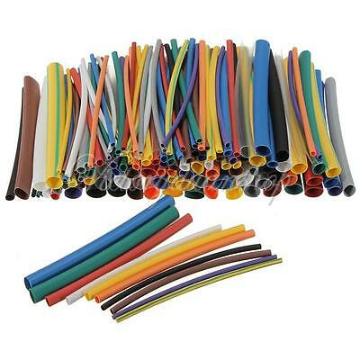 "144pcs 2:1 Heat Shrink Tube Tubing 2.8"" Sleeving Wrap Cable 12 Color 6 Sizes Kit"