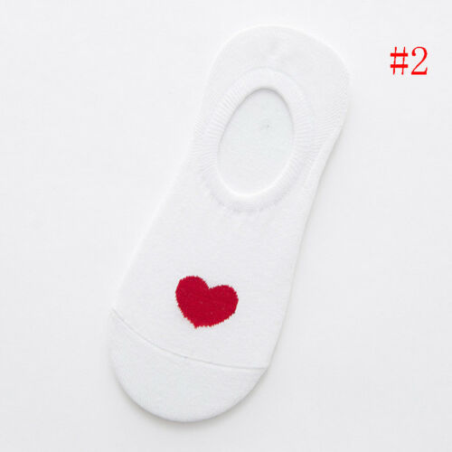 Ladies Women Short Invisible Socks With Heart Lovely Spring Summer Socks