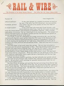 1975-Rail-amp-Wire-Newsletter-Illinois-Railway-Chicago-PCC-Decapod-Locomotive