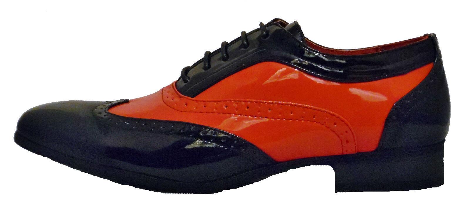 hombre forrado negro y rojo Borsalino forrado hombre en Piel Charol Zapatos De Vestir Boda 851d20