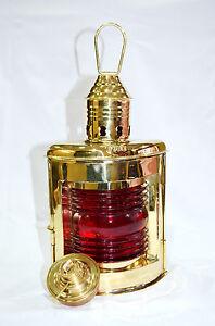 "12/"" Brass Port Lantern ~ Ship Oil Lamp ~ Nautical Maritime ~ Boat Light"