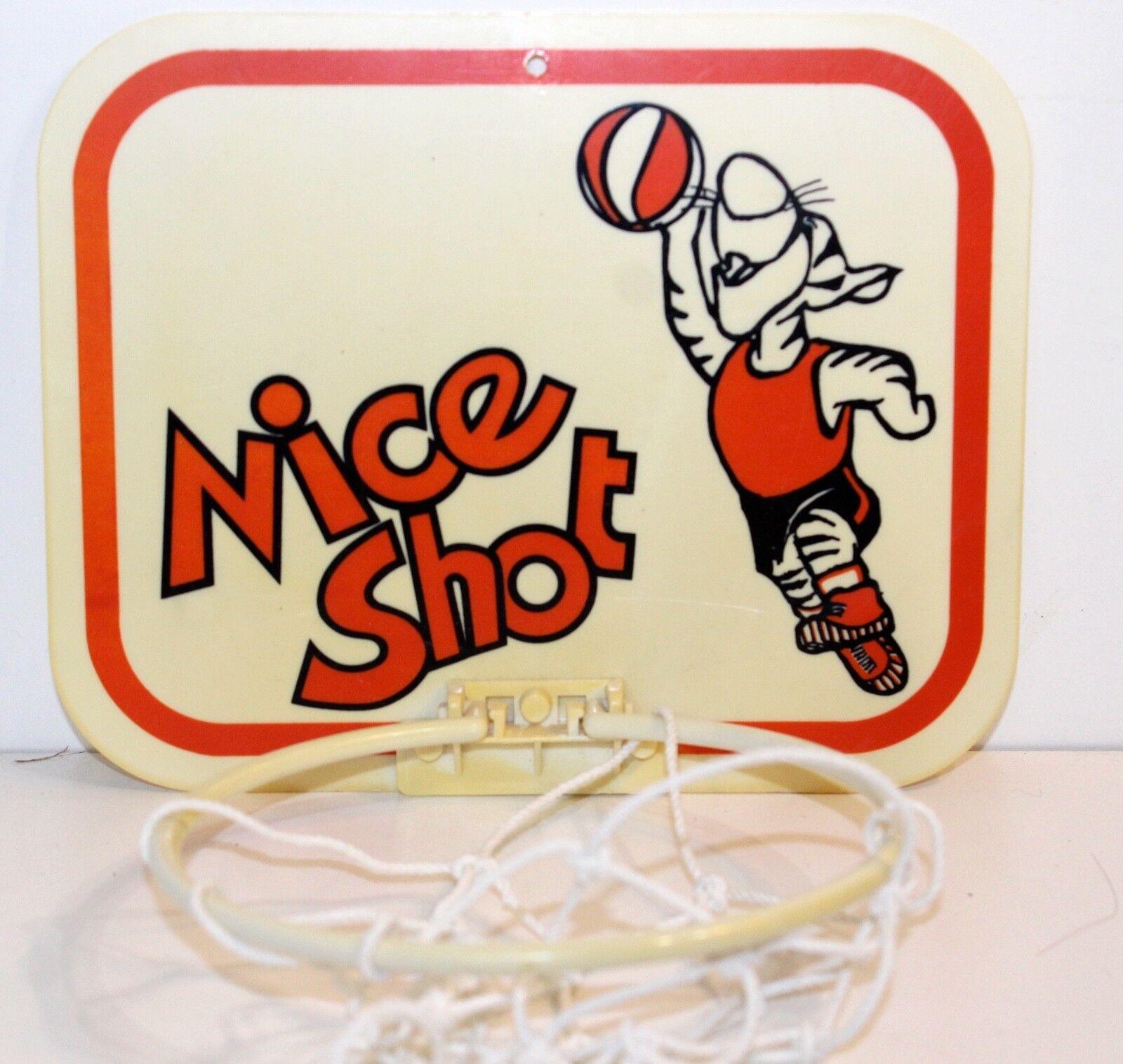 Tiger Vintage Door   Wall Basketball Hoop with Net Nice Shot