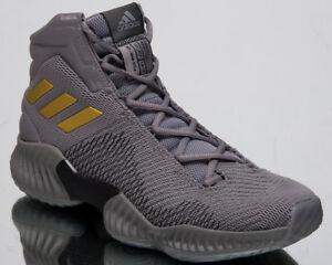 ea25386dfbb07 adidas Pro Bounce 2018 New Men s Grey Gold Black Basketball Sneakers ...