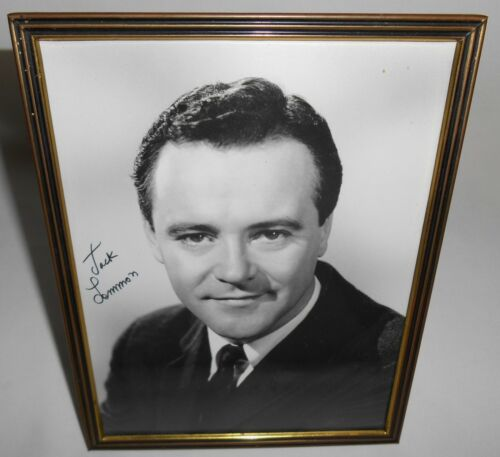Hand Signed JACK LEMMON Autographed B/W PHOTO w/FRAME