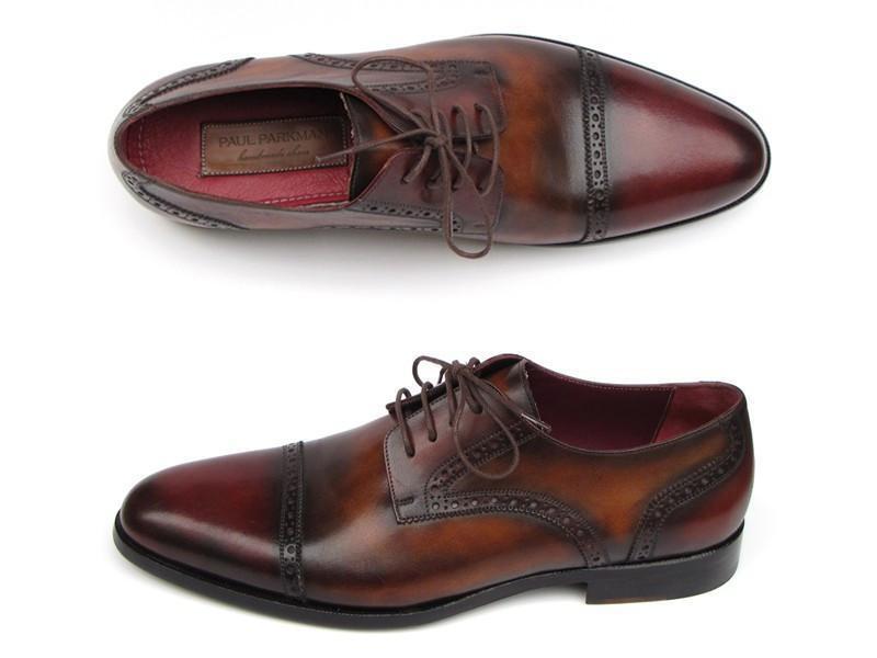 edizione limitata Paul Parkman Exclusive Uomo scarpe Bordeaux     Tobacco Leather Upper Leather Sole  sconto online