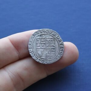 Hammered Silver Coin James 1st Sixpence 1624 AD