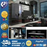 Living Room Furniture Set Display Unit Tv Stand Cupboard White Or Black