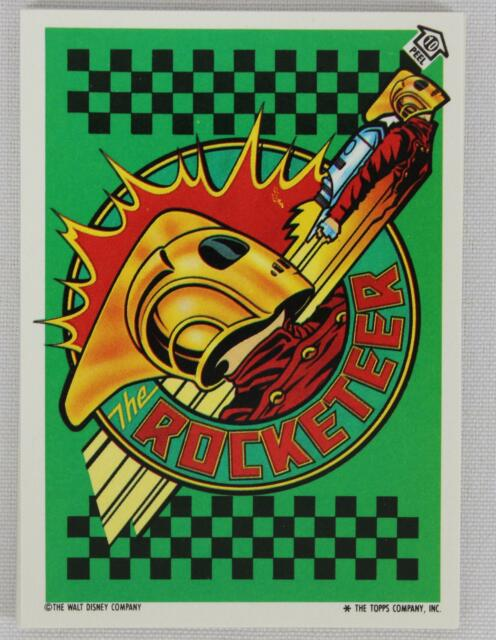 Topps 1991 The Rocketeer Movie Complete 11 Card Puzzle Sticker Set (#1-#11)
