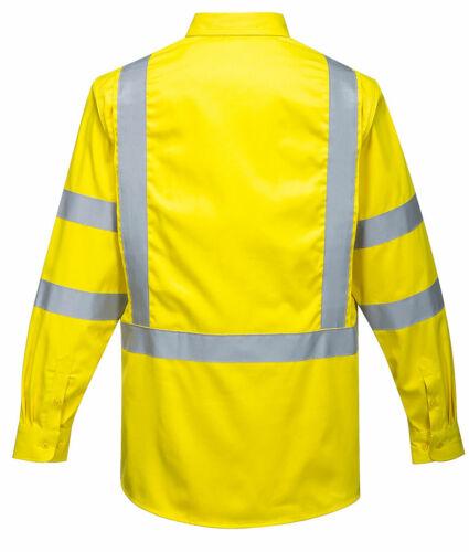 Portwest FR95 Bizflame Flame Resistant Hi-Vis Reflective Shirt ASTM NFPA ANSI