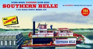 LINDBERG-1-64-SCALE-Southern-Belle-Stern-Wheel-Powered-River-Boat-Model-Kit-NEW