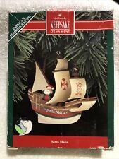 1992 Hallmark Ornament Santa Maria 500th Anniversary of Columbus