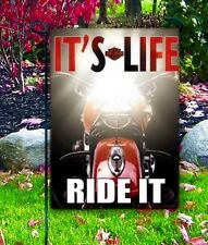 "NEW HARLEY DAVIDSON MOTORCYCLE GARDEN FLAG 12.5"" X 18"" BANNER IT'S LIFE, RIDE IT"