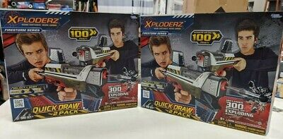 SET OF 2 XPLODERZ FIRESTORM QUICK DRAW 2 PACK PLUS 300 ROUNDS OF AMMO