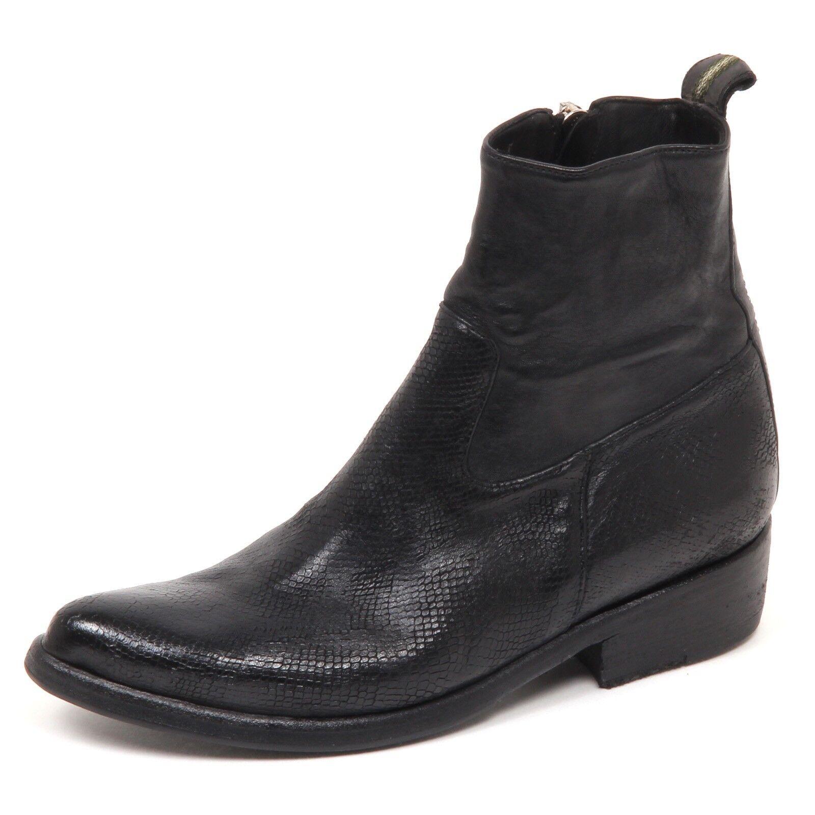 E6816 Stivaletto Stivaletto Stivaletto mujer Negro Sartori oro zapatos Vintage Efecto Bota Zapato Mujer  punto de venta de la marca