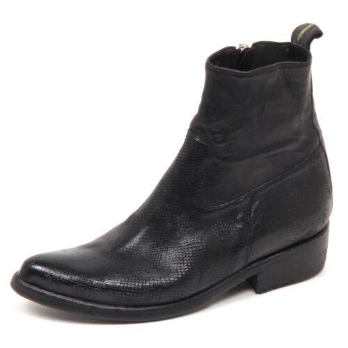 Stiefeletten Schwarz Shoe Effect Damen Schuhe Vintage Woman E6816 Gold Sartori Boot lFKJ1c