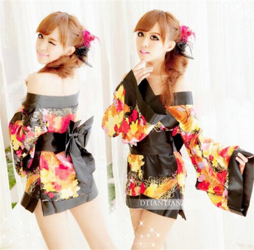 Japanese Cosplay Kimono Pajamas Women/'s Girl Lingerie Set Dress