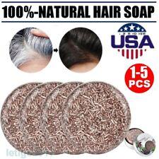 1-5Pc Hot Organic Grey Reverse Shampoo Bar - Essence Hair Darkening Shampoo Soap