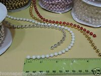 12 Yds. 6mm Faux Pearl Plastic Beads On A String Craft Roll (choose Any Colors)