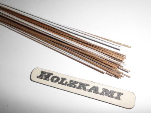 Holzleisten  Teak. 50 Stück.  300mm x 1mm x 0.6mm  L/B/H  Selbstklebend  Neu