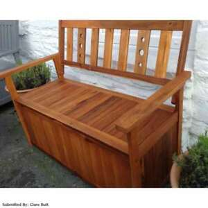 Excellent Details About Greenfingers Portland 2 Seater Storage Bench Gamerscity Chair Design For Home Gamerscityorg