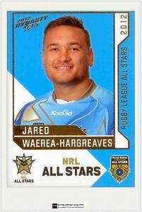 2012 Select NRL Dynasty All Stars Game AS36 J. Waerea-Hargrea<wbr/>ves (NRL All Stars)