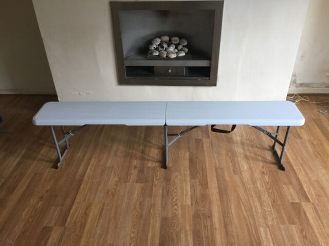 6ft Folding Bench Lightweight Blow MOULDED Portable Camping Seat   eBay