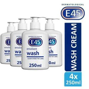 4-x-E45-Dermatological-Emollient-Wash-Cream-250ml-Soap-Free